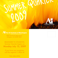 Summer Quarter 2009 Postcard