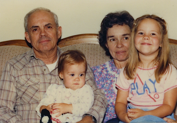 Poppy, me, Nana, and Laura